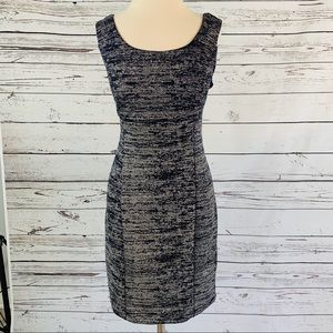 EXTRA SPARKLES navy and silver dress
